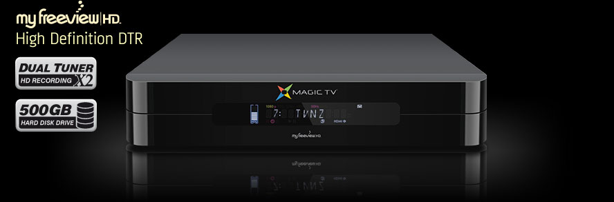 Magic TV™ High Definition Digital Television Recorder with Dual tuners and a 500GB Hard Disk Drive